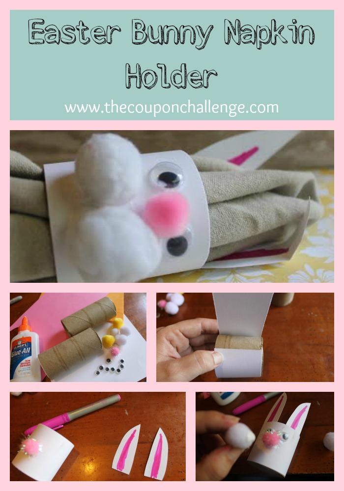 Easter Bunny Napkin Holder Collage