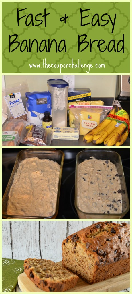 Fast and Easy Banana Bread Collage