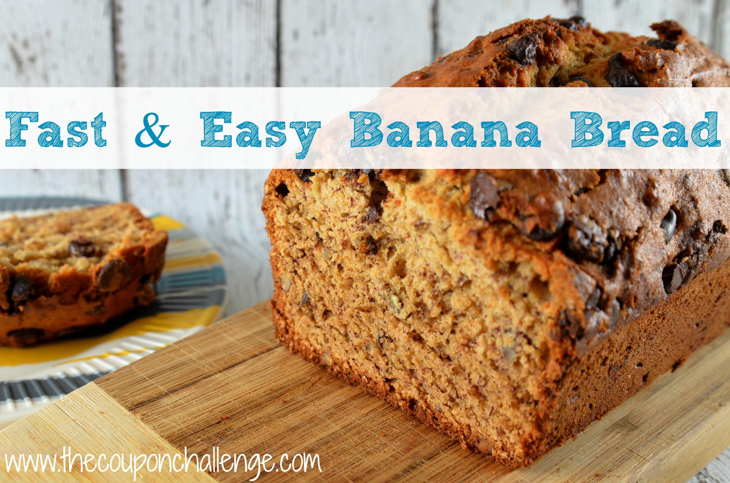Fast and Easy Banana Bread I Quick and Easy Banana Bread