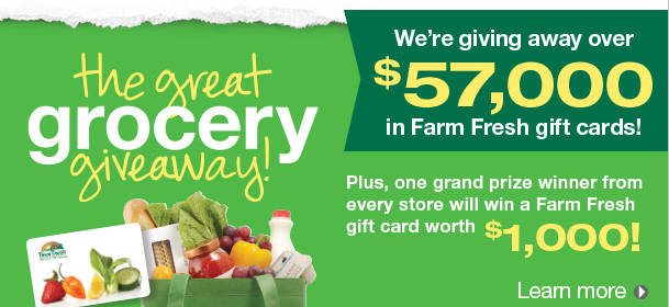 20 000 grocery giveaway farm fresh great grocery giveaway plus a 20 gift card 6757