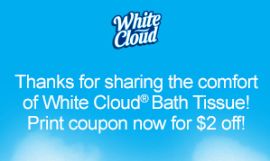 WHITE CLOUD $2 OFF