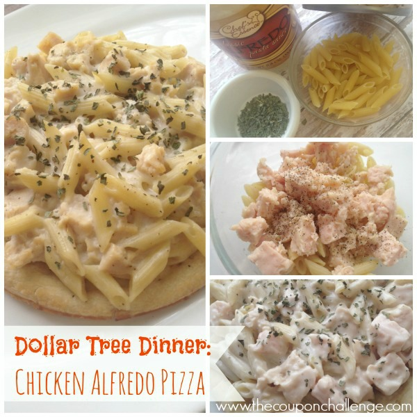 chicken alfredo pizza recipe collage