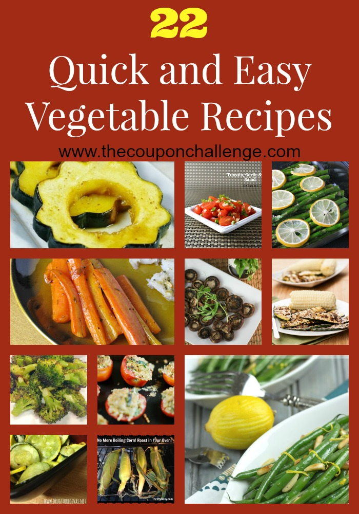 Quick and Easy Vegetable Recipes