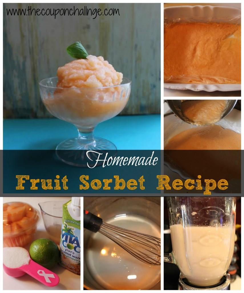 Fruit Sorbet Recipe Collage