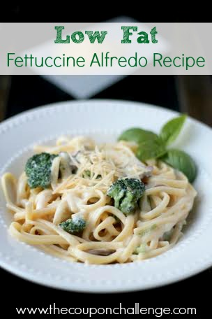 Low Fat Fettuccine Alfredo Recipe
