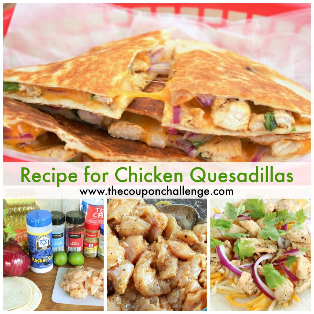Recipe for Chicken Quesadilla Collage