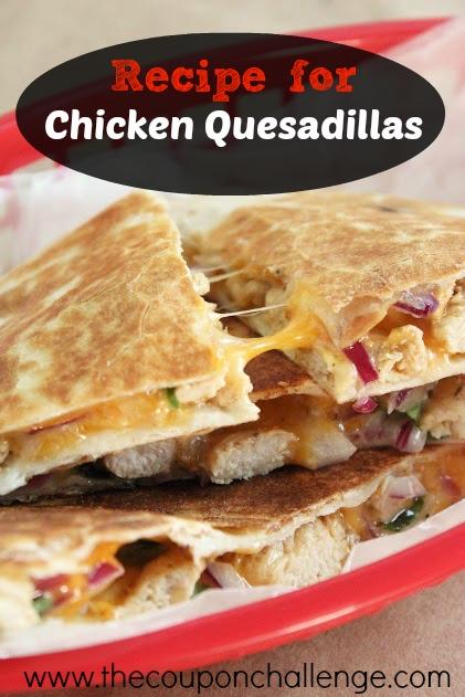 Recipe for Chicken Quesadilla