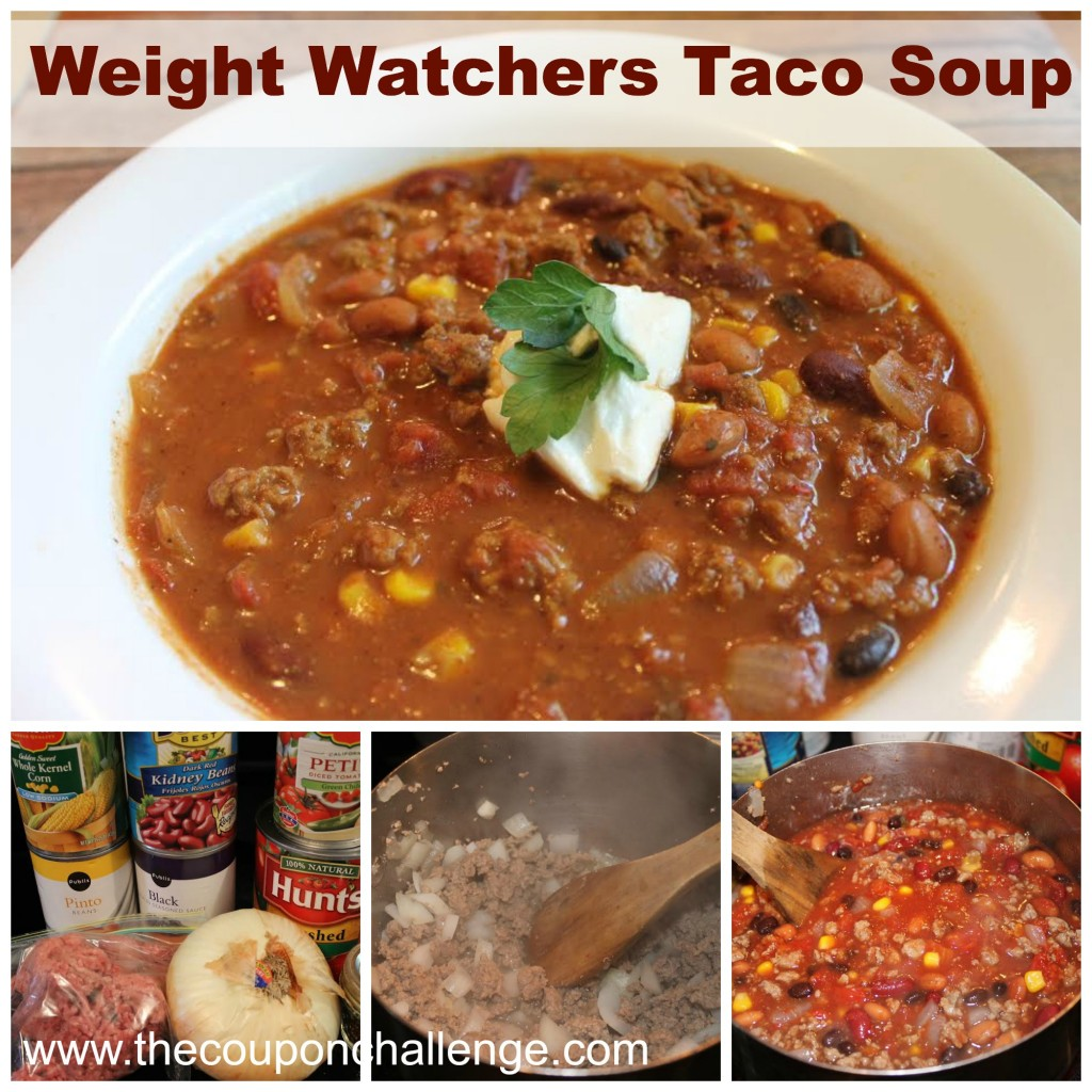 Weight Watchers Taco Soup Collage