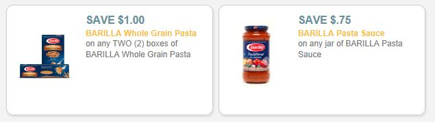 barilla sauce and pasta