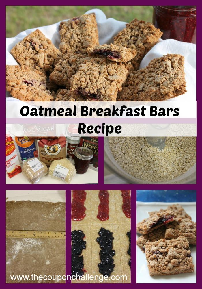 Oatmeal Breakfast Bars Recipe Collage