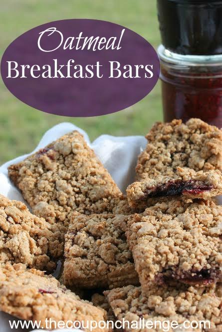 Oatmeal Breakfast Bars Recipe