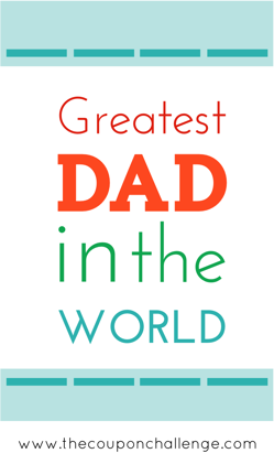 Fathers Day Free Printable Cards - Greatest Dad in the World card
