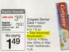 colgate mouthwash deal