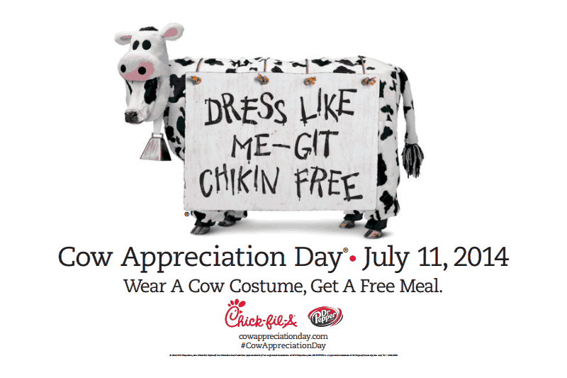 image about Chick Fil a Cow Costume Printable identify Chick-fil-A Cow Appreciation Working day upon 7/11/14 - The Coupon
