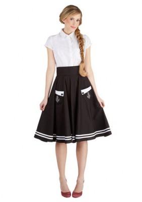 ModCloth Aweigh We Go Skirt