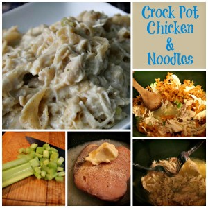 Crock Pot Chicken and Noodles Collage