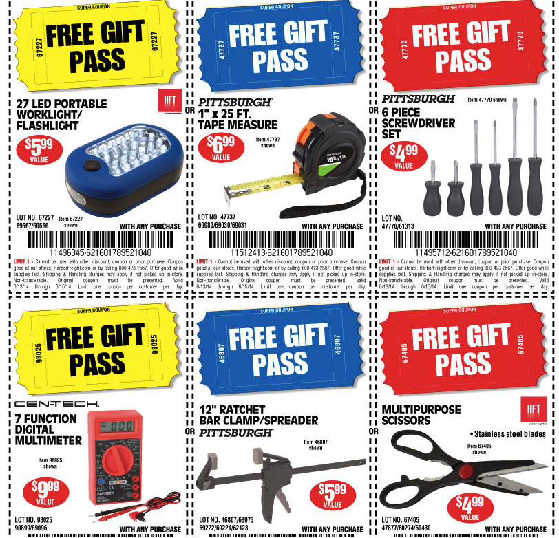 ... Freight Tools: 6 FREE Gifts for Father's Day!!! - The Coupon Challenge