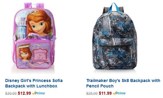 Amazon 50% off backpacks