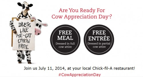 chik-fil-a cow appreciation day