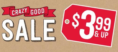 crazy good sale 399 stock-up sale