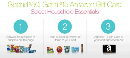 household items amazon gift card