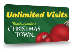 When will Busch Gardens Christmas Town be held this year? Christmas Town will be during select days from November 17 through December 31 at the Tampa park, and from November 17 through January 5 at the Williamsburg location.
