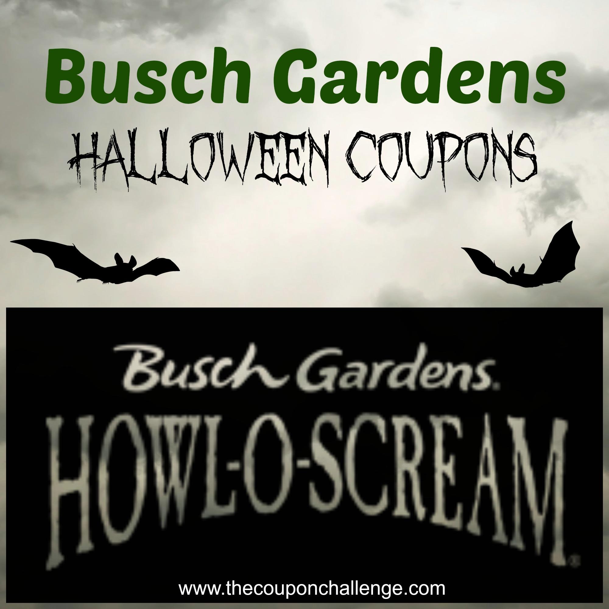 Busch Gardens Halloween Coupons