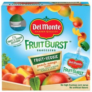 Del Monte Fruit Burst Peach Mango Squeezers