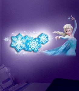 Elsa Dancing Snowflake Wall Light