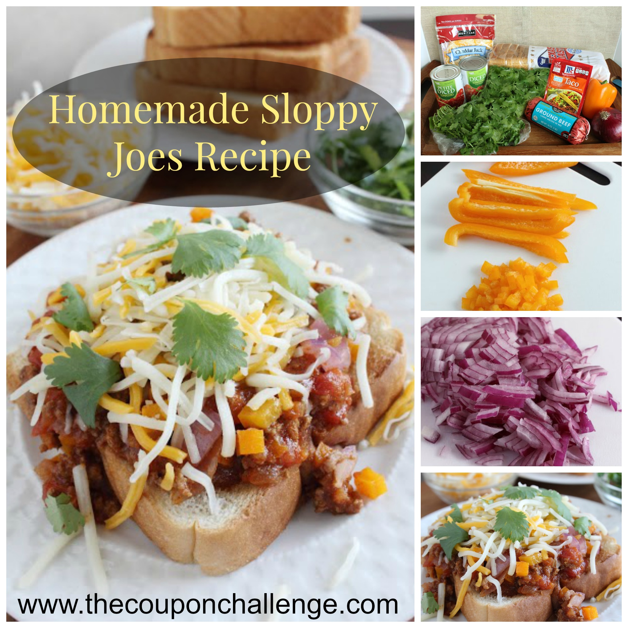 Homemade Sloppy Joes Recipe Collage