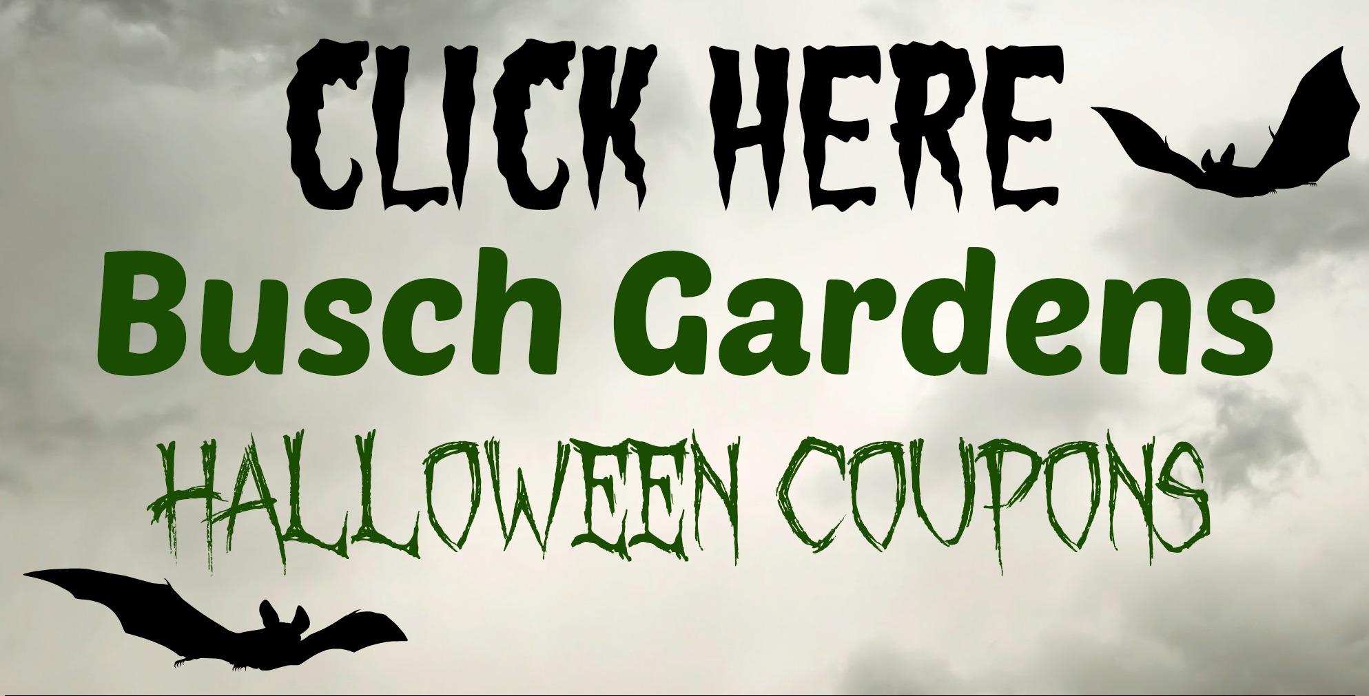 Howl-o-Scream at Busch Gardens Discount Coupons