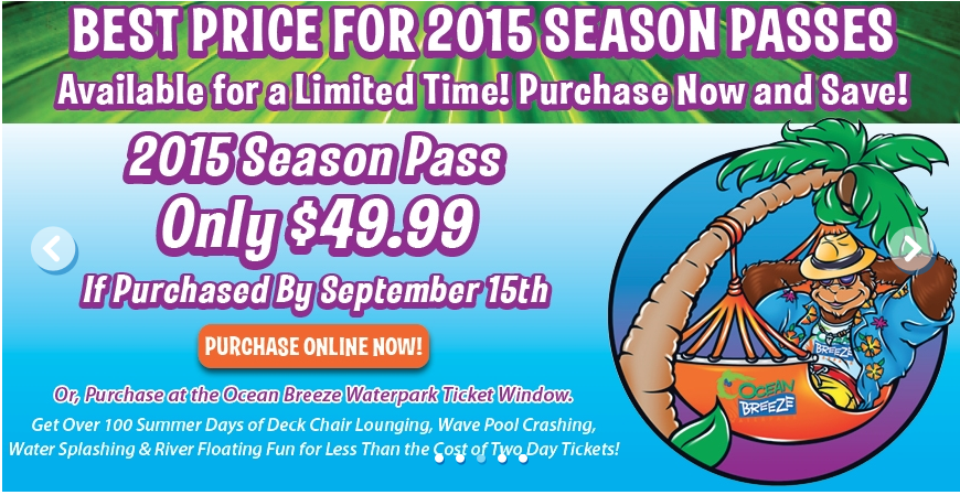 Ocean Breeze Waterpark Coupon
