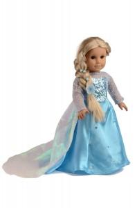 disney frozen elsa princess dress for american girl doll