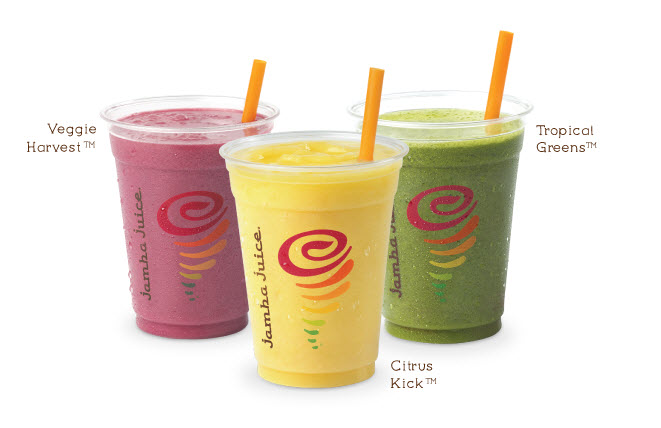 This morning head over to your local Jamba Juice (participating stores  only) between the hours of 9:00 – 11:00 AM and pick up your FREE 12 oz  Juice!