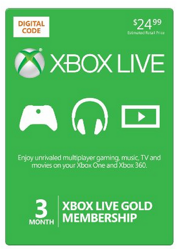 amazon microsoft xbox live 3 month gold card 25 off the coupon
