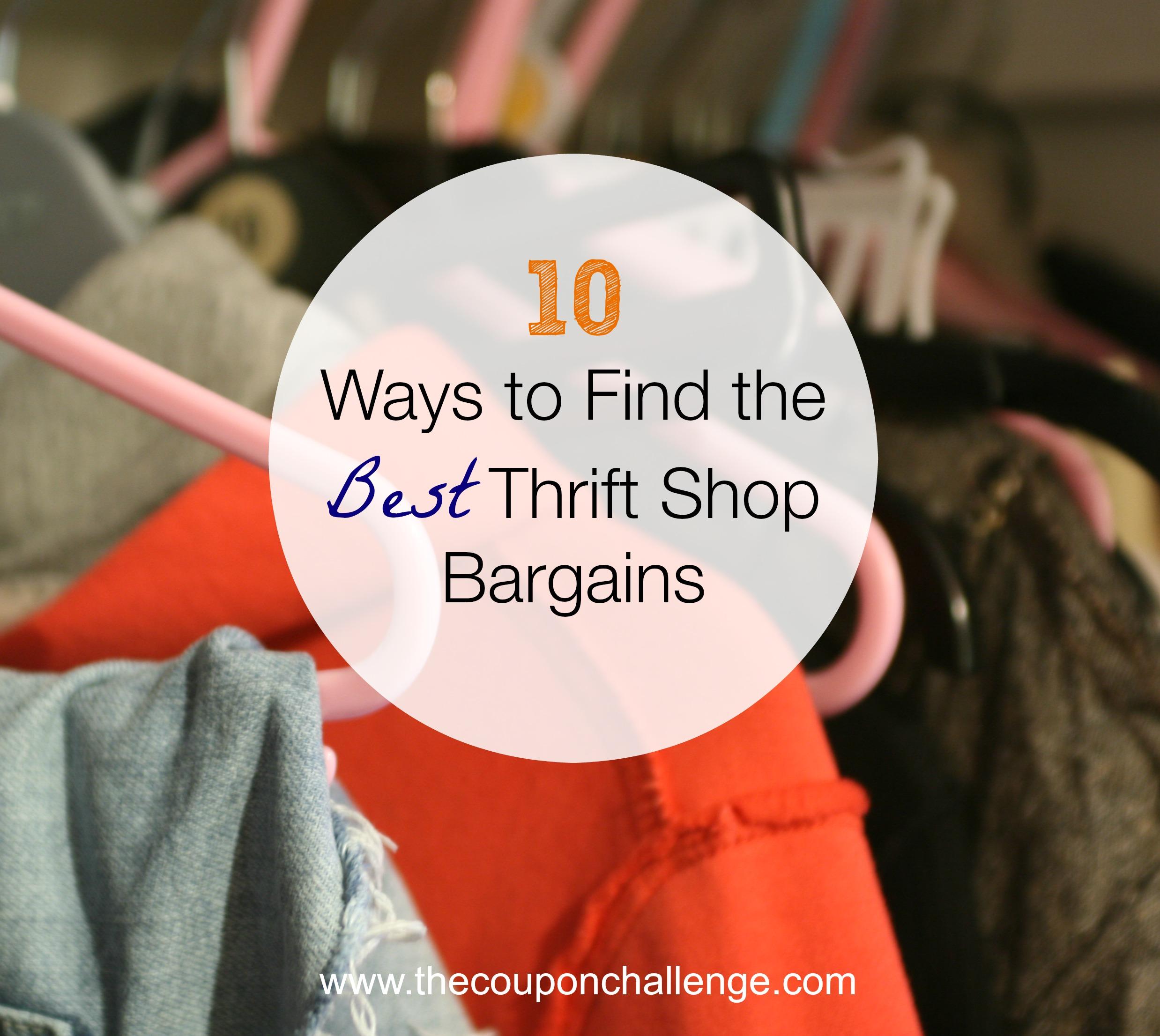 10 Ways to Find the Best Thrift Shop Bargains