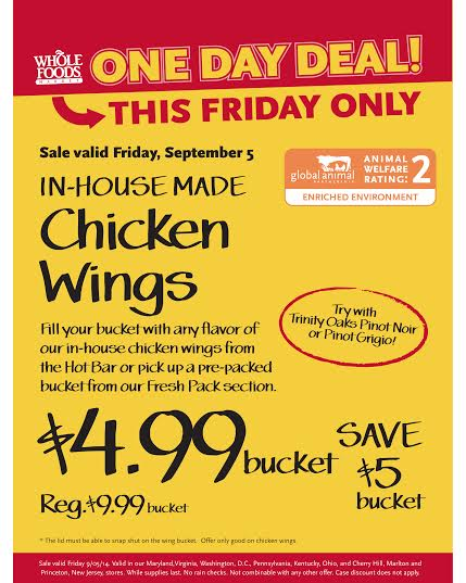 Whole Foods Chicken Wings 499bucket The Coupon Challenge