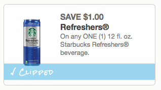 Starbucks Refresher coupon