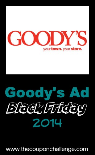 Goody's Black Friday Goody's is a small town neighborhood retailer that delivers exceptional value and service while offering well-known brand names like .