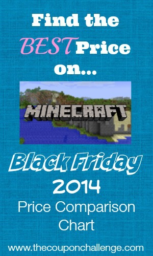 2014 Minecraft Black Friday Price Comparison