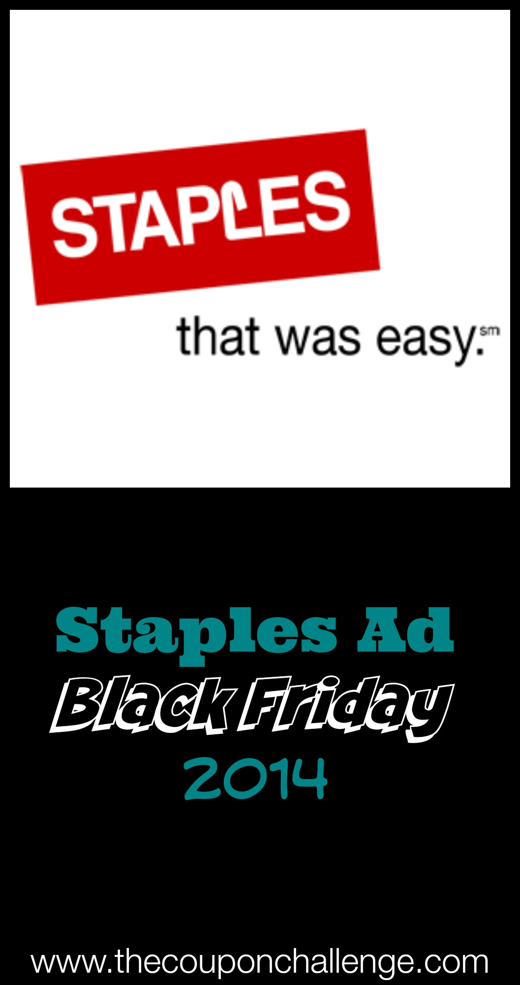 2014 Staples Black Friday Ad