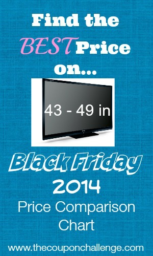 43 - 49 tv Black Friday Price Comparison