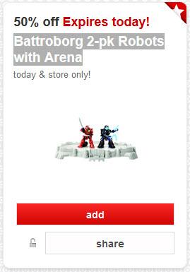 Battroborg 2-pk Robots with Arena