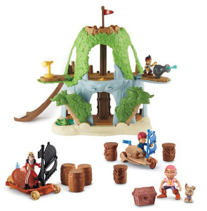 Disney Jake and the Never Land Pirates Hideout, Sailwagon & Figure Gift Set by Fisher-Price