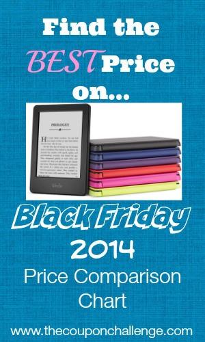 Kindle Black Friday Price Comparison