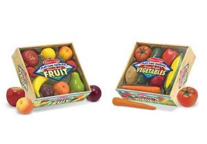 Melissa & Doug Fruits & Vegetables Play-Time Set