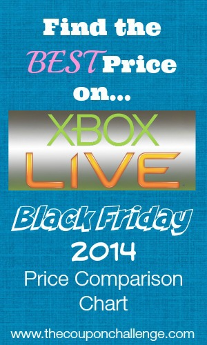 Xbox Live Black Friday Price Comparison