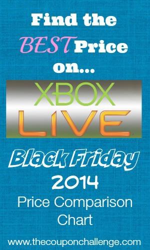 Xbox Live Black Friday Price Comparison