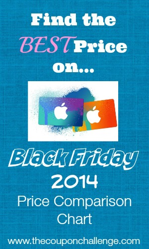 iTunes Black Friday Price Comparison