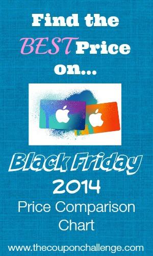 iTunes Black Friday Price Comparison